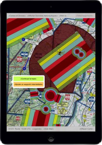 app iPad : Drones - Espace Aérien France