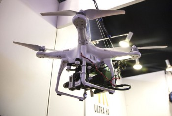Un DJI Phantom avec streambox Drone