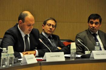 Laurent Henry, vice-président de la FFAM, Stéphane Morelli, secrétaire de la FFAM et Francis Duruflé, vice-président de la FFAM