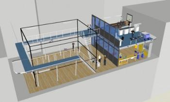 Un croquis 3D préliminaire du nouveau laboratoire. Crédit Rob Siddall / Imperial College London