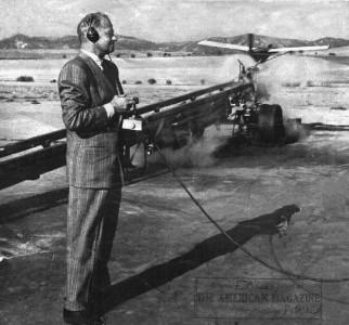 Reginald Denny, OQ-3 launch. Crédit photo The American Magazine, 1947
