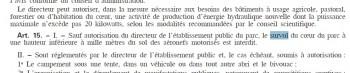 Extrait du décret révisé du parc national des Cévennes