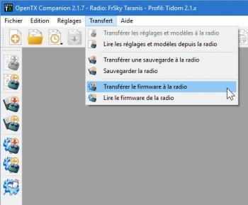Companion - Menu Transfert Radio Firmware