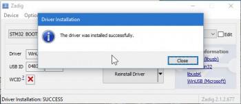 Zadig - Driver Installed