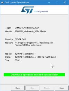 STM32 - Bootloader success