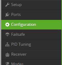 Cleanflight - Configuration