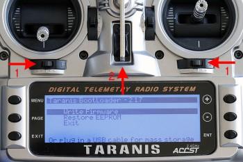 Taranis - Mode Bootloader