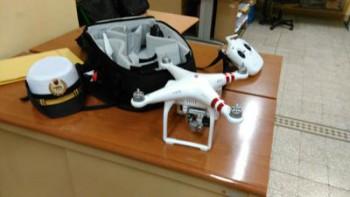 L'appareil confisqué par la police, selon Adnkronos. Crédit photo : Adnkronos