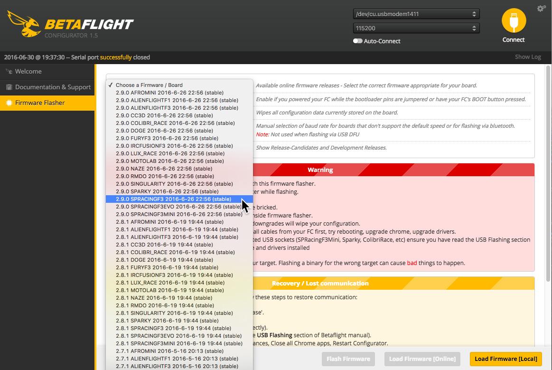 Betaflight Configurator 1 5   HelicoMicro com
