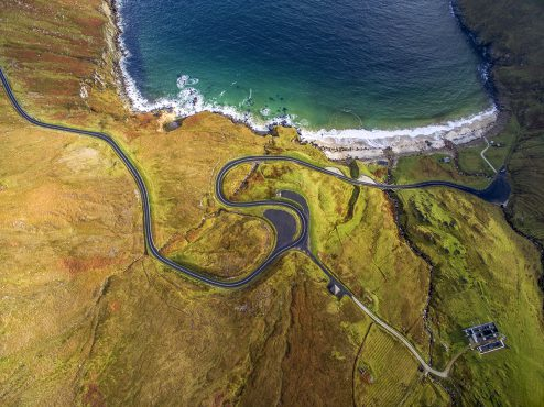 © Above the World -Earth through a Drone's Eye, to be published by teNeues and available from DJI in October, US$75, Photo © Romeo Durscher, Location: Keem Bay, Achill Island, County Mayo, Ireland, Captured on: DJI Phantom 3, © 2016 DJI. All rights reserved. www.dji.com