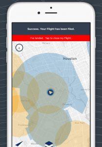 Le service de geofencing Airmap qui équipe les appareils de DJI, Yuneec, 3DR et Intel.
