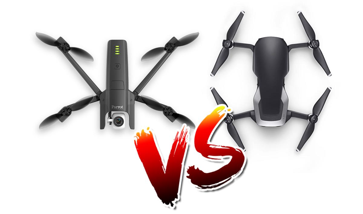 Parrot Anafi vs DJI Mavic Air, le comparatif de fiches